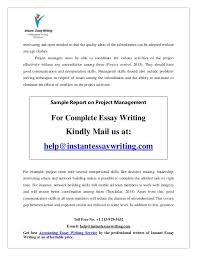 sample on project management by instant essay writing the person should be 24