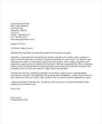 Letter Or Recommendation Format Letter Of Reference Letter Template Reference Letter Format Sample