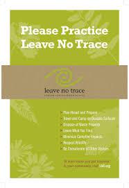 the leave no trace seven principles leave no trace