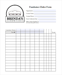Free Fundraiser Order Form Template Magdalene Project Org