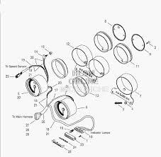 Запчасти для Мотоцикла harley davidson 2003 fxdx dyna® super glide sport gj Раздел instrument assembly