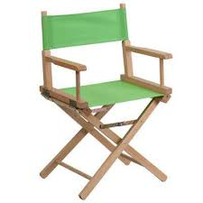 standard height directors green chair green red blue gray