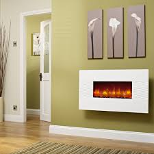 incredible white electric fireplace design with paint tying on green painted wall ideas