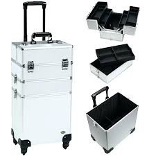 rolling makeup case with drawers professional soft sided w draers