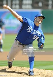 Kansas City Royals pitcher Felipe Paulino throws during the first... News  Photo - Getty Images