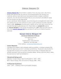 Interior Design Resume Objective Examples