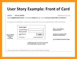 User Story Template Classy Success Story Template Word User Excel Retailbuttonco