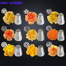 9pcs Stainless Steel Russian Pastry Nozzles Cake Decorating Icing