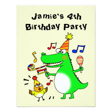 4th Birthday Invitation Cards Happy 4th Birthday I Am 4 11 Cm X 14