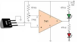 lm35 temperature sensor circuit and its working lm35 circuit diagram