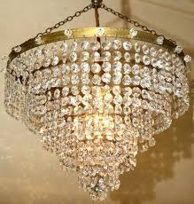 strass crystal chandelier antiques atlas five tier waterfall parts