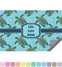 sea turtles indoor outdoor rug personalized