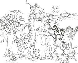 Small Picture Zoo Scene Coloring Pages creativemoveme
