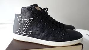 louis vuitton sneakers for men high top. [sold] louis vuitton surfside sneakers ! men navy calf leather with white lv logo! sz 9.5 us - youtube for high top t