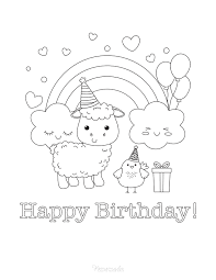 View and print full size. 55 Best Happy Birthday Coloring Pages Free Printable Pdfs