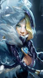 download dota 2 rylai the crystal maiden wallpaper for nokia e7