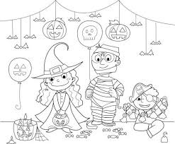 halloween costumes coloring pages halloween characters coloring pages preschool coloring pages school