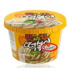 Instant Topokki Cup Rice Cake Tteokbokki Carbonara Korean Street