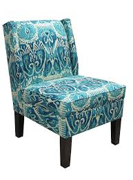 amazoncom skyline furniture wingback chair in alessandra teal