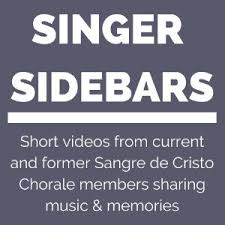 But how do you find easy songs to sing that make you sound good and show off your voice whether you are male or female? Singer Sidebars Sangre De Cristo Chorale