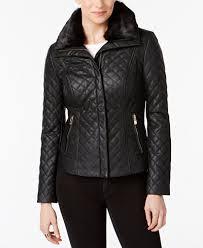 INC International Concepts Faux-Fur-Collar Faux-Leather Quilted ... & INC International Concepts Faux-Fur-Collar Faux-Leather Quilted Jacket Adamdwight.com