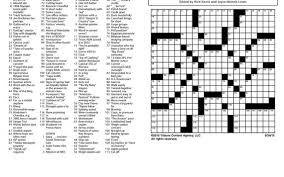Missing Clues To The Sunday Crossword The Kansas City Star