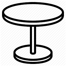 table clipart black and white. dining table, furniture, round table icon clipart black and white