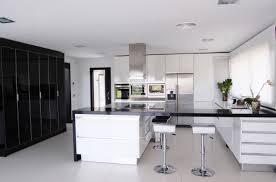 modern kitchen black and white. Architecture House Modern White Kitchen Black Decor And E