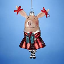This adorable ornament is fashioned for the children's character Olivia the  Pig, but in her darling Christmas outfit and gift, she makes a perfect gift  for ...