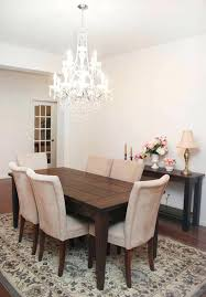 size of chandelier for dining table dining room farmhouse table how to nest for less regarding size of chandelier for dining table