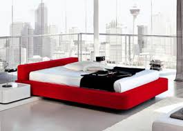Red Bedroom Black Furniture Photo   8