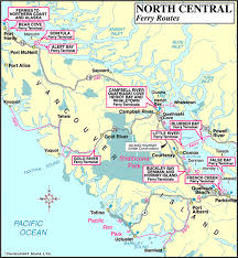 map of north central ferry routes vancouver island news, events Bc Ferries Map map of north central vancouver island ferry routes, british columbia bc ferry map