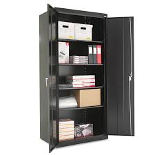 Lockable Dvd Storage Cabinet Assembled 78 High Storage Cabinet By Alerar Alecm7824bk