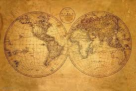 World Map Posters Old World Map Poster 24 X 36 Antique Geography Vintage 10500 7 95 Art Posters