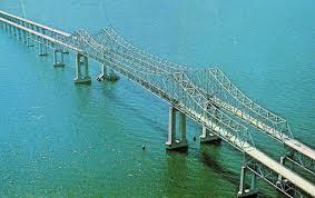 Sunshine Skyway Bridge Old Tampa Bay Florida Sunshine