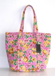 Laura Ashley Painterly Rose Handbag Pink Quilted Tote Shopper Baby ... & Laura Ashley Painterly Rose Handbag Pink Quilted Tote Shopper Baby Bag 19″x  16″ Adamdwight.com