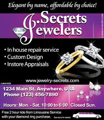 jeweler s in house repair sample advertisement jewelry secrets jewelry in house repairs ad sample advertisement