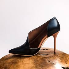 malone souliers crystal black and leather pumps