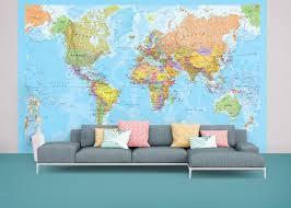 political world map wallpaper