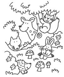 Coloring Pages Forest Animals This Would Be Cute Embroidered For A Childrens Room Coloring