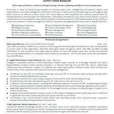 Resume Format For Logistics Manager Airexpresscarrier Com