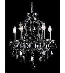 avenue lighting hf1037 blk onyx ln 5 light 18 inch black crystal mini chandelier ceiling