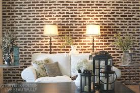 diy faux brick wall snippets of design