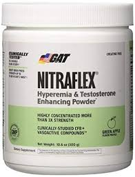 gat clinically tested nitraflex testosterone enhancing pre workout green apple 300 gram