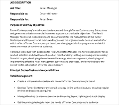 Creative Retail Jobs 10 Retail Job Description Templates Pdf Doc Free Premium