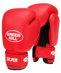 <b>Перчатки боксерские Green</b> Hill Silver BGS-2039 6oz кз (красный)