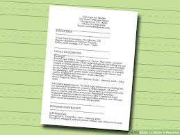 How To Make A Resume Enchanting 28 Ways To Make A Resume WikiHow