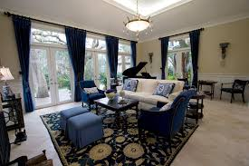 french formal living room. Sparkling Blue Wing Chair With Formal Living Room White Frame French Doors