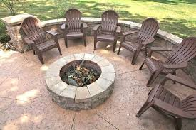 concrete patio with fire pit. Concrete Outdoor Fire Pit Patio With Matching