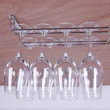 Metal wine glass rack Chrome Bsex Bar Kitchen Wine Glass Rack Metal Holder Under Cabinet Stemware Hanger Shelf Implantek Stylish Small Bathroom Home Wine Racks Buy Home Wine Racks At Best Price In Malaysia
